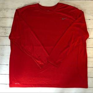 Nike Men's Dri-Fit Red Long sleeve. NWOT. Size 4XL